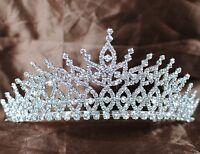 Floral Wedding Tiaras Hair Combs Austrian Rhinestone Headband Bridesmaid Crowns