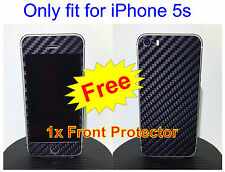 iPhone 5s 3M Di-Noc Black Carbon Fiber Vinyl Full Body Skin sticker * For i5s *