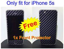 iPhone 5s 3M Di-Noc Black Carbon Fiber Vinyl Full Body Skin sticker * For i5s *