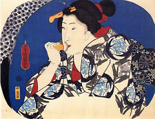 7 Reproduction Japanese Woodblock Women 7 Old Prints by Utagawa Kuniyoshi NEW