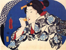 7 Reproduction Japanese Woodblock Women 7 Old Prints by Utagawa Kuniyoshi NEW