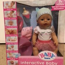 BABY Born 916007 Interactive Doll with Blue Eyes