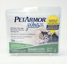 PetArmor Plus Flea & Tick Prevention Treatment Cats Over 1.5 lbs 3 Applications