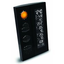 Technoline WS 6650 Black Weather Station with Forecast Radio Clock luftdruckanzeig