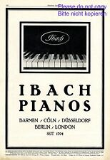 Ibach Piano XL 1923 German ad grand advertising Germany