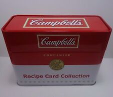 Campbell's Soup Recipe Card Collection Tin With Recipe Cards