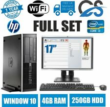 HP ELITE 8100 I3 550 @ 3.2ghzGHz PC de sobremesa LCD Torre ordenador WIN10 4gb