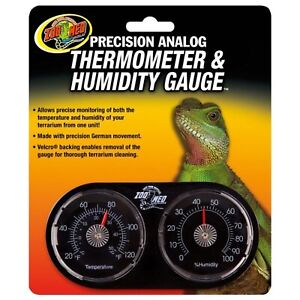 Zoo Med Dual Thermometer & Humidity Gauge Reptile Lizard snake