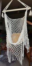 NUOVA Sedia BALI Boho Swing Amaca 100% cotone, nappe frange, indoor outdoor