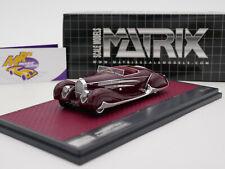 """Matrix 50205-033 # Bugatti Type 57C Cabrio VanVooren Baujahr 1939 """" rot """" 1:43"""