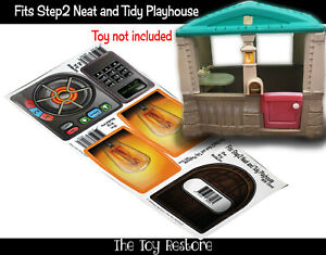 The Toy Restore Replacement Stickers For Step2 Neat and Tidy Cottage Playhouse