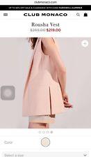 CLUB MONACO Designer Rousha Vest Waistcoat Gilet Jacket Peach RRP$219 UK8 10 S M