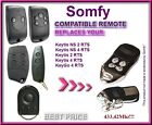 SOMFY KEYGO 4 RTS compatible remote control, replacement 433,42Mhz