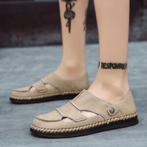 Men's Roman Sand Walking Sandals Shoes Closed Toe Sport Non-slip Outdoor Slip-on