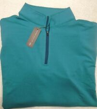 Peter Millar Crown Sport Quarter Zip Perth Pullover XL Scuba Blue
