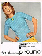 PUBLICITE ADVERTISING 084  1965  PRISUNIC  pull-over VELICREN