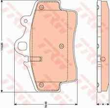 TRW GDB1756 Brake Pad Set