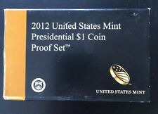 2012 U.S. Mint Presidential 1$ Dollar Coin Proof Set Complete With Box & COA