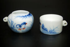 Hand Painted Porcelain Bird Feeder Bowl for Chinese Bamboo Bird Cage Chicks
