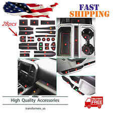 28PC Cup Holder and Door Liner Accessories Fit for 2017 2018 Ford F-150 Custom