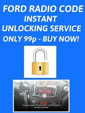 INSTANT FORD RADIO STEREO UNLOCK CODE FIESTA MONDEO TRANSIT GALAXY KA FOCUS