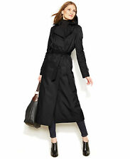 NEW DKNY $354 BLACK HOODED DOUBLE BREASTED TRENCH COAT SZ 1X 14/16
