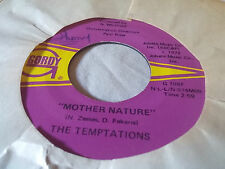 The Temptations 45 Funky Music Sho Nuff Turns Me On/Mother Nature 70s Soul Funk