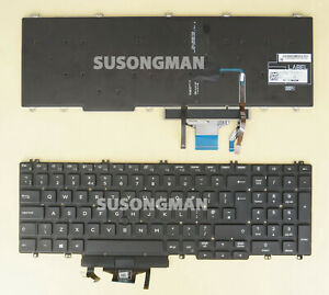 New UK Keyboard for DELL Precision 3540 3550 3541 3551 2019 Laptop Backlit point
