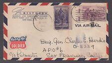 **US WWII General's Mail, Arlington, VA 1/26/1944 CDS to Brig Genl Chas. Hurdis