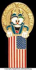 OLYMPIC PINS 1996 ATLANTA IZZY MASCOT PATRIOTIC US FLAG
