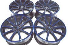 18 Drift blue rims wheels IS250 Accord Eclipse Sonata Fusion Civic 5x100 5x114.3
