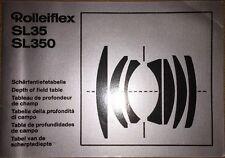 Rollei SL35 350 de profundidad de campo Mesa Libro Genuino Original