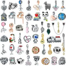 New European Charm DIY Chain Pendant Beads FOR 925 Silver charms Bracelet Bangle