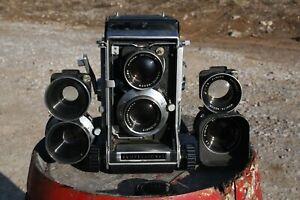 MAMIYA C33 Pro TLR Camera (2) Sekor 80mm F/2.8 Lens & Sekor 65mm. NICE!