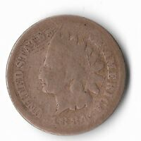 Rare Very Old Antique US 1884 Indian Head Penny USA Collection Coin Cent LOT:W11
