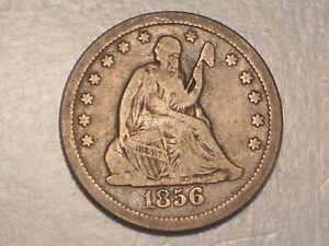 1856 O Seated Liberty Quarter (Fine & Attractive)