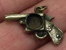 Antique Miniature Figural Gun Pistol Fob, Missing Compass