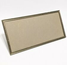 "Mid-century modern photo frame 12 by 6"" Gold Tone Vintage"