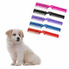 Pet Hair Trimmer Comb 2 Razor Rakes Cutting Grooming Clean Tool for Dog Cat PVCA