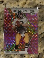 2020 MOSAIC TERRY BRADSHAW HALL OF FAME PINK CAMO PRIZM PITTSBURGH STEELERS #286