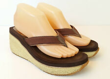 Volatile Flip Flops Wedge Sandals 8 Brown
