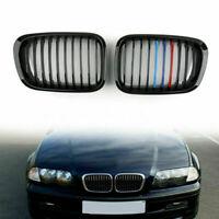 Valla Parrilla Grill ABS M Color Gloss Black Mesh Para BMW E46 4D 98-01 3 Series
