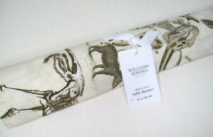 """Williams Sonoma Halloween Skellie Toile Skeleton Dinner Table Runner 16"""" X 108"""""""