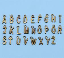 Wholesale 26pcs English Alphabet Tibet silver  Charm Pendant beads Jewelry DIY —