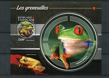 Togo 2015 MNH Frogs 1v S/S Amphibians Bullfrogs Tree Frog Grenouilles Stamps