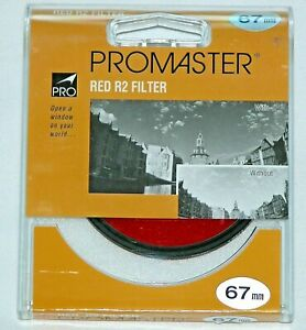 Pro 67mm Red R2 Lens Filter Black & White Color Film Digital New Made in Japan