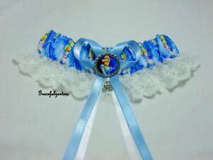 Plus Cinderella Disney Lace bridal wedding Garter. cinderella carriage. cinders.
