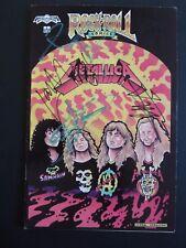 Metallica All 4 Signed Autographed Rock & Roll Comic Beckett Certified James +3