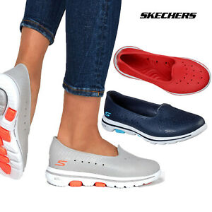 Skechers Womens Cali Gear Go Walk 5 Sun Kissed Comfortable Slip On Shoe Trainers