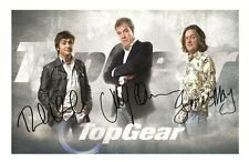 TOP GEAR - HAMMOND & MAY & CLARKSON AUTOGRAPHED SIGNED A4 PP POSTER PHOTO 3